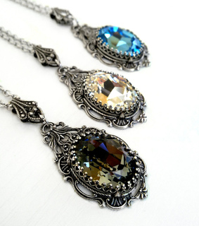 gothic necklace, applebite jewelry and swarovski necklace
