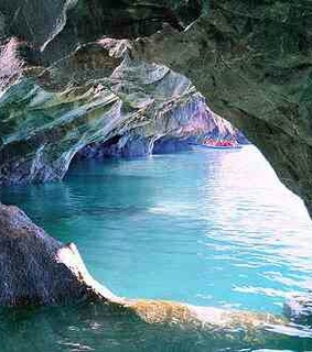 beautiful, blue and cave