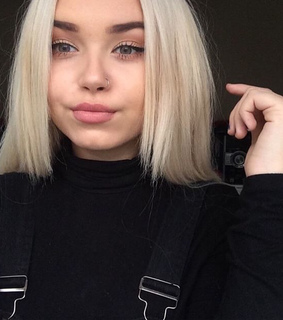 black, blonde and eyebrows
