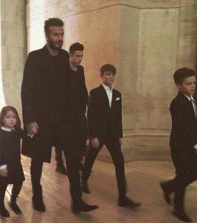black, david beckham and fashion
