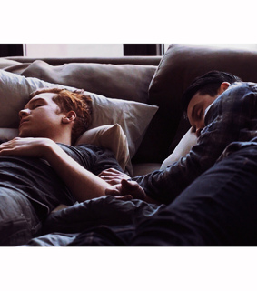 cameron monaghan, couple and cuddle