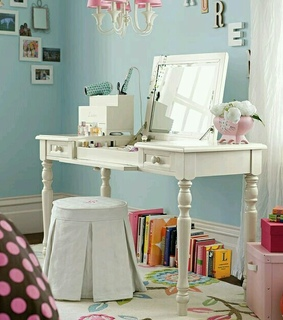 home decorating, interior design and makeup storage