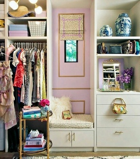 dream closet, girly bedroom and home decorating