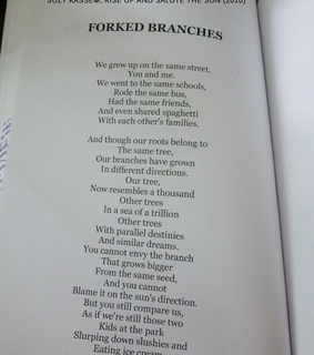 poetry, suzy kassem poetry and forked branches