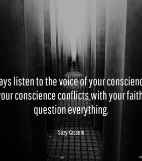 conscience, faith and quotes