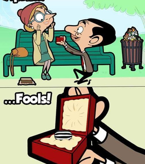april fools, month and mr bean