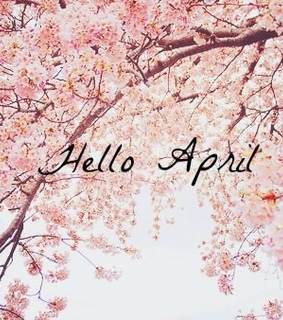 april, flowers and hallo