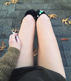 cigarette, thigh gap and thin