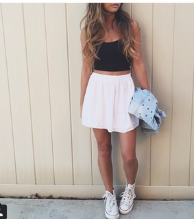 beautiful, converse and crop top