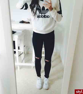 adidas, beautiful and black jeans