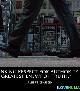 albert einstein, authority and quotes
