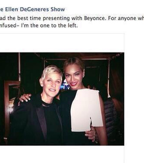 beyonce, ellen and funny