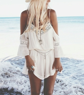 beach, blus and cute