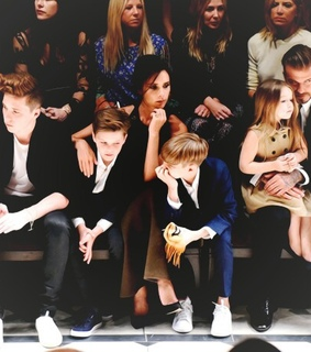 david beckham, family and famous