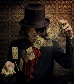 :p, boy and cards