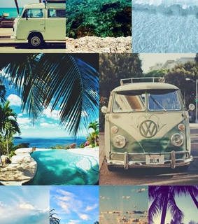 beach, beautiful places and collage