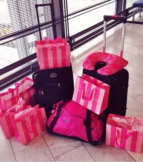 airport, baggage and pink