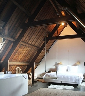 attic, beam and bed