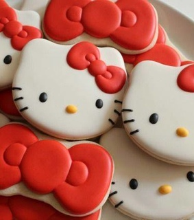 cookies, food and hello kitty