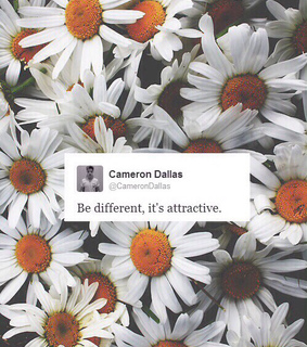 be different, cameron dallas and flowers
