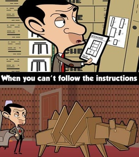 cartoon, funny and instructions