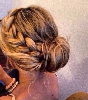 blond, braid and girl