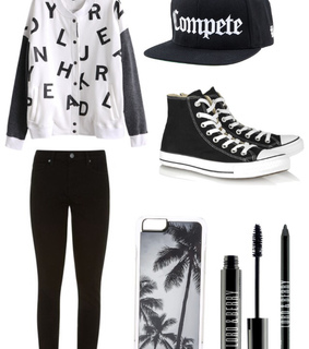clothes, eye liner and eye pencil