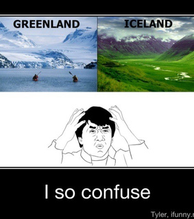 confuse, funny and greenland