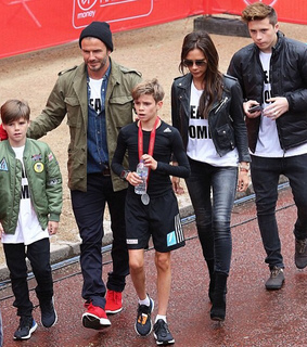 cute, david beckham and family