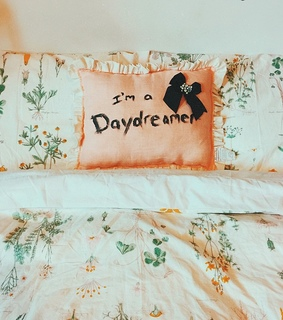 bed, cute and daydreamer