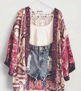 cardigan, crop top and cute