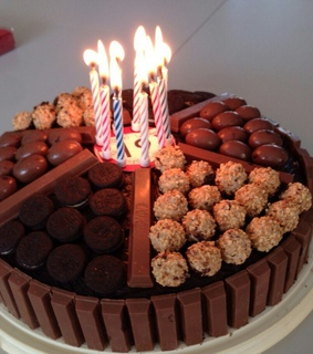 birthday cake, chocolate and happybirthday
