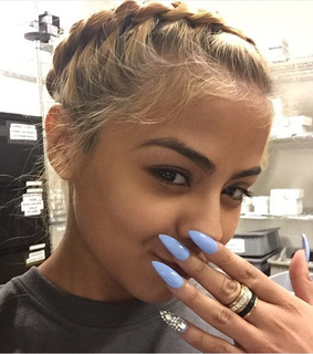 acrylic nails, beauty and blonde hair