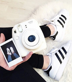 adidas, black and white and camera
