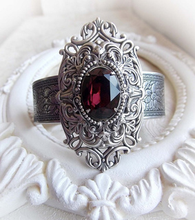 burgundy, gift for her and gothic jewelry