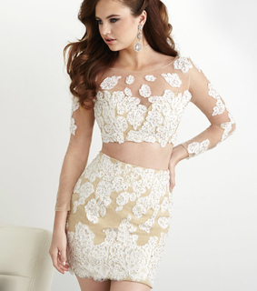 ivory, nude and short homecoming dresses
