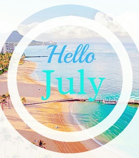 hello july, summer and beach