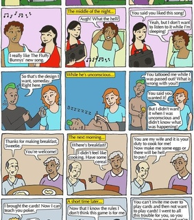 comic, consent and couples