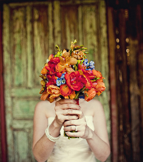 bouquet, bride and love