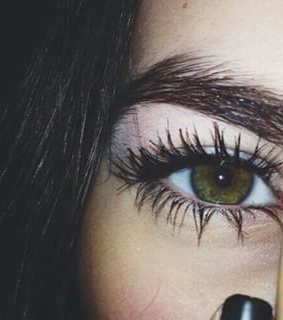 amazing eyes, brown hair and brows