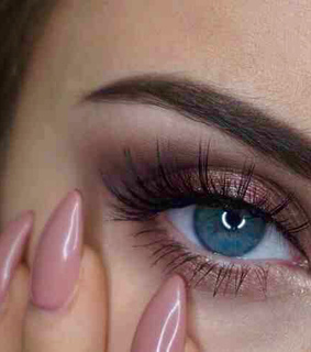 blue eyes, colored eyes and eyebrows