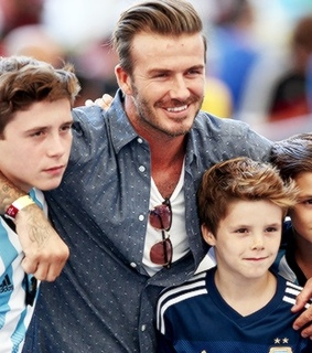 boys, david beckham and romeo beckham