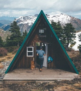 alps, cabins and camping