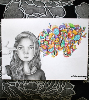 black and white, design and doodle