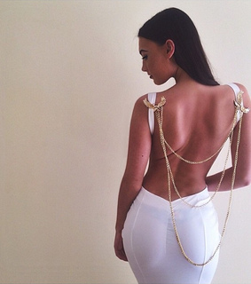 backless, dress and gold