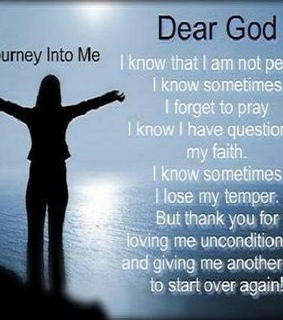dear god, not perfect and thank you