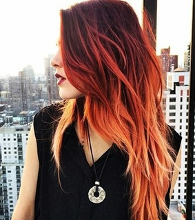 colored, colored hair and hair