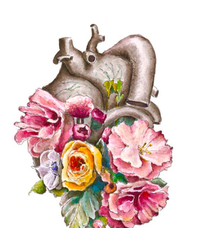 flowers, human heart and iphone wallpaper