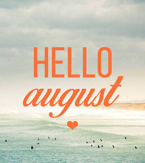 august, flowers and new month