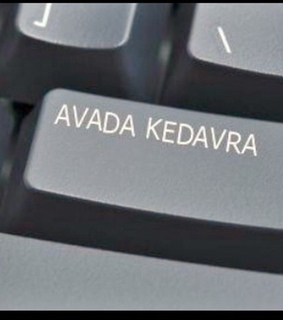 avada kedavra, keyboard and ️harry potter